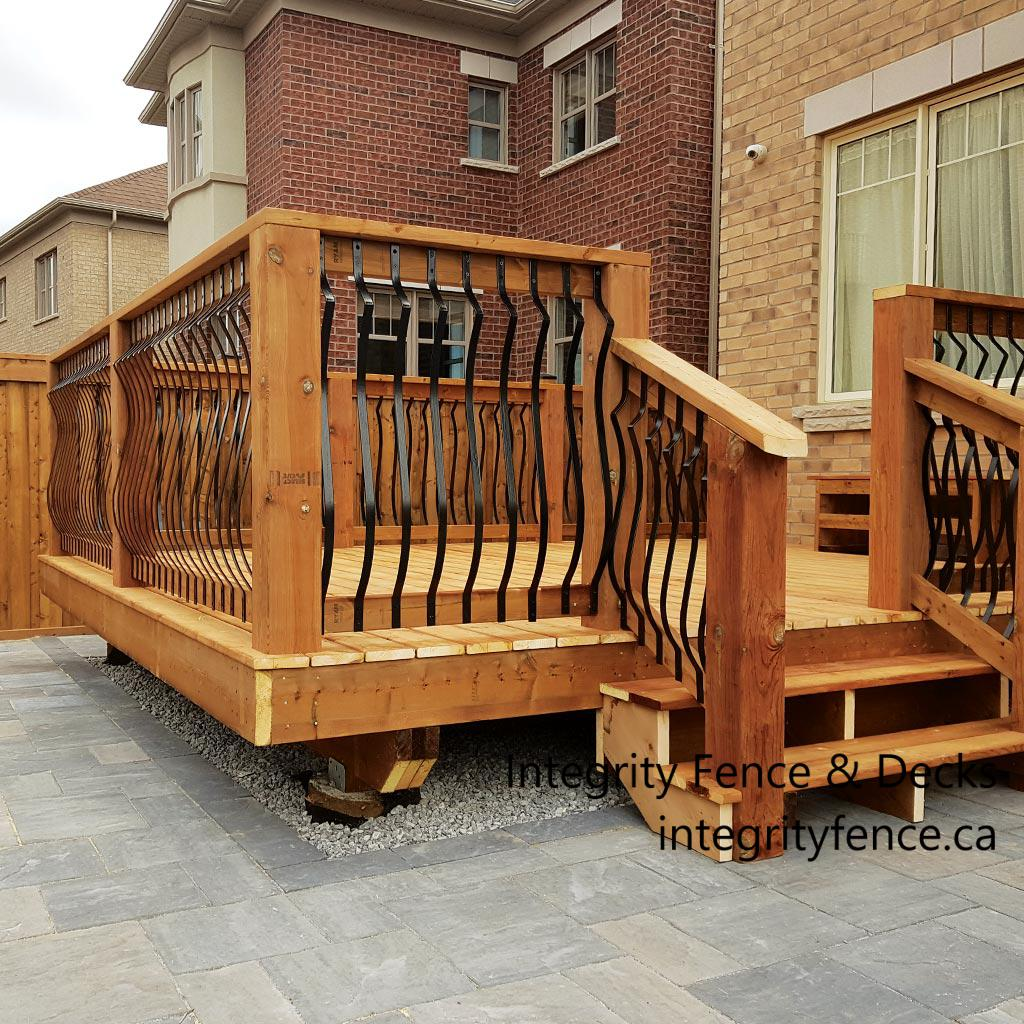 Pressure Treated Deck with Metal Pickets