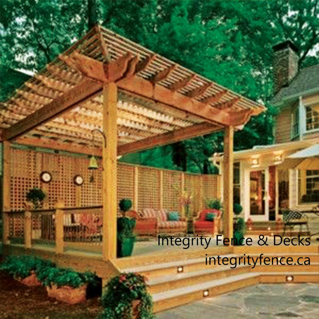 Cedar Pergola with Privacy Panels