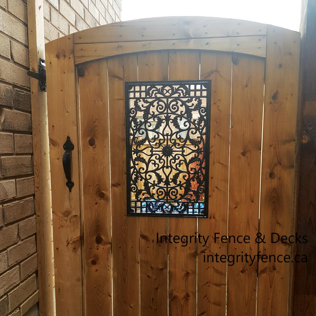 Pressure Treated Upgraded Gate with Large Insert